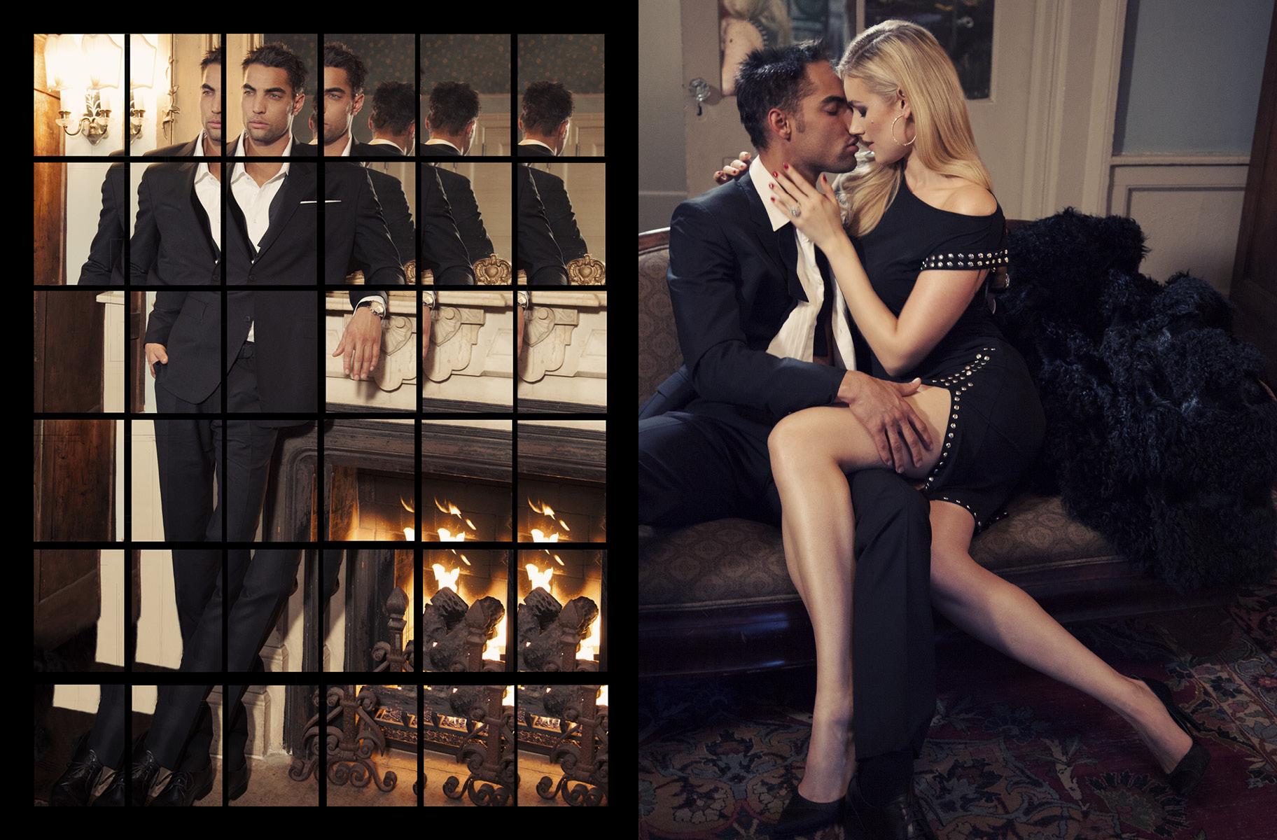 LEFT: Suit & Shirt PAUL SMITH / Watch JACOB & CORIGHT: Dress & Shoes MICHAEL KORS / Suit & Shirt PAUL SMITH