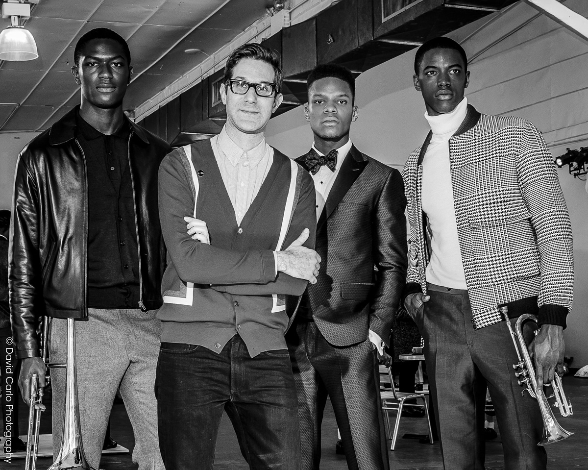 Designer, David Hart, feelin' it at Industria Superstudios with looks from his Fall/Winter 2016 Collection.