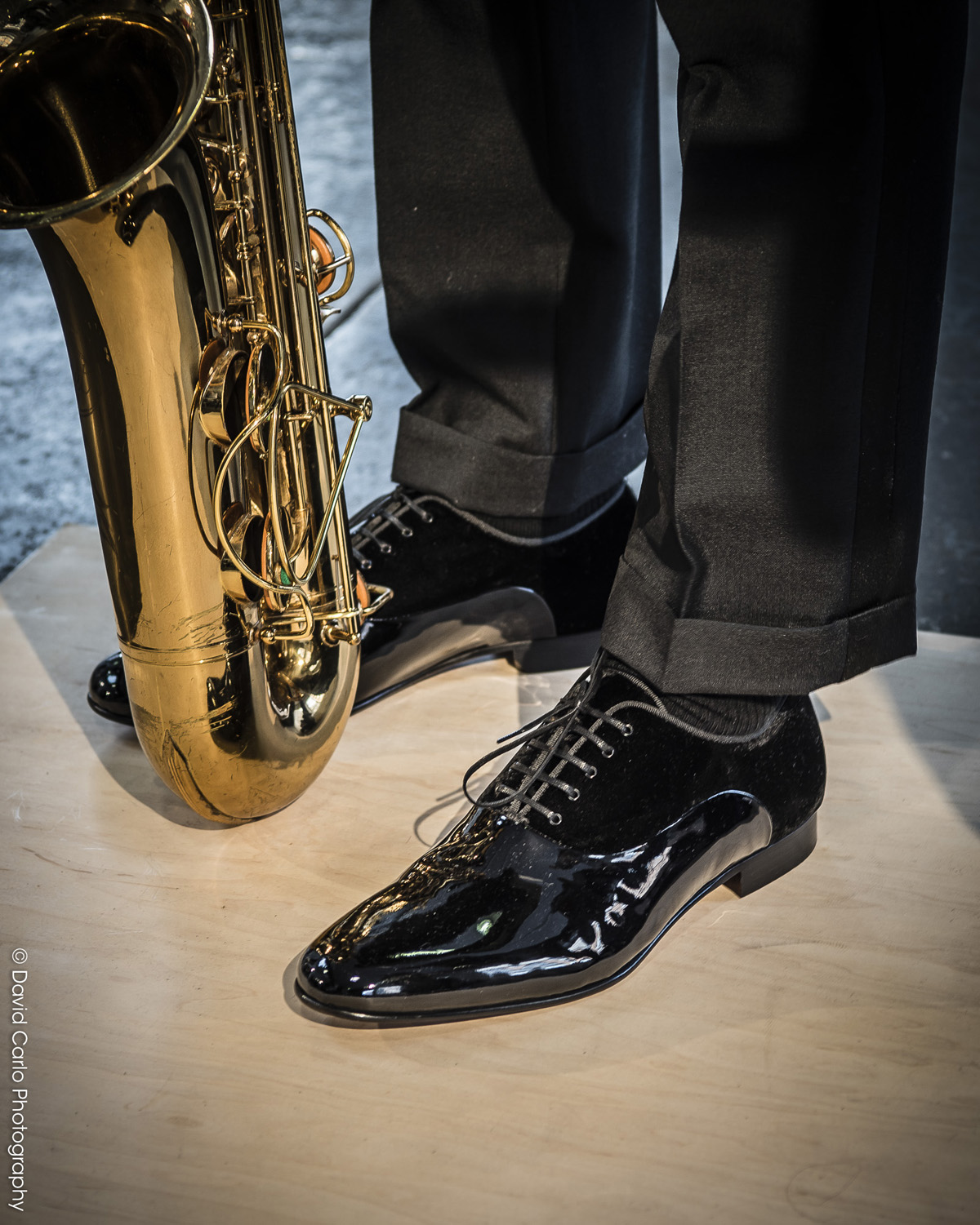 Killin' it! Suave designs and sounds... David Hart designed these evening shoes with Johnston & Murphy.