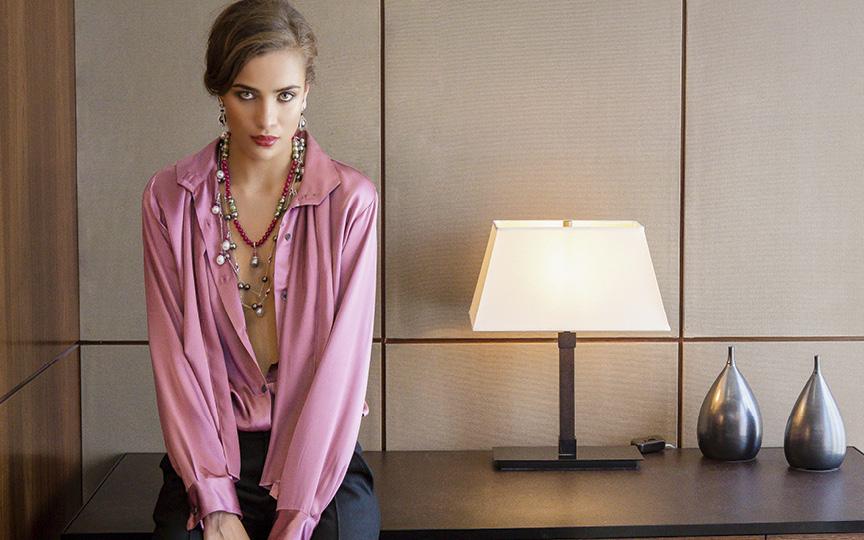 Blouse & Trousers KAL RIEMAN / Jewelry ELLAGEM NY