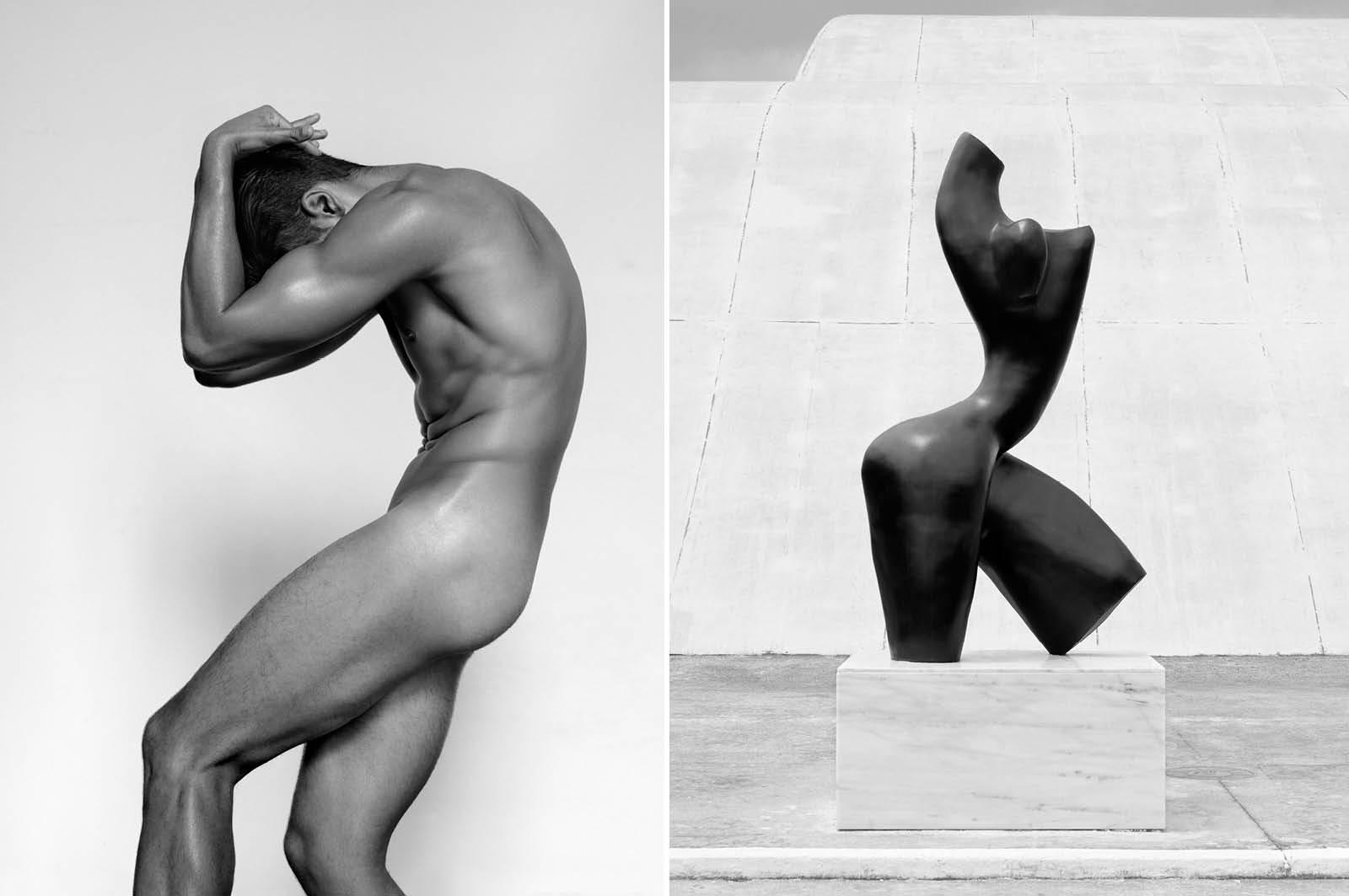 Male Nude (Bent Forward), 2013 / Black Torso, São Paulo, 2011