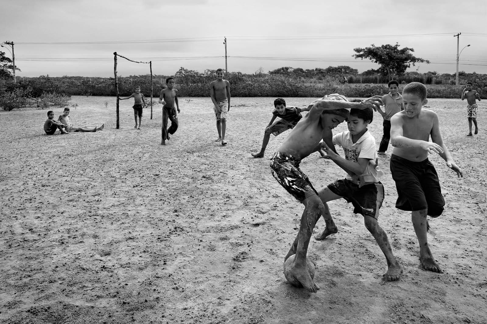 Kids Playing Football, 2013