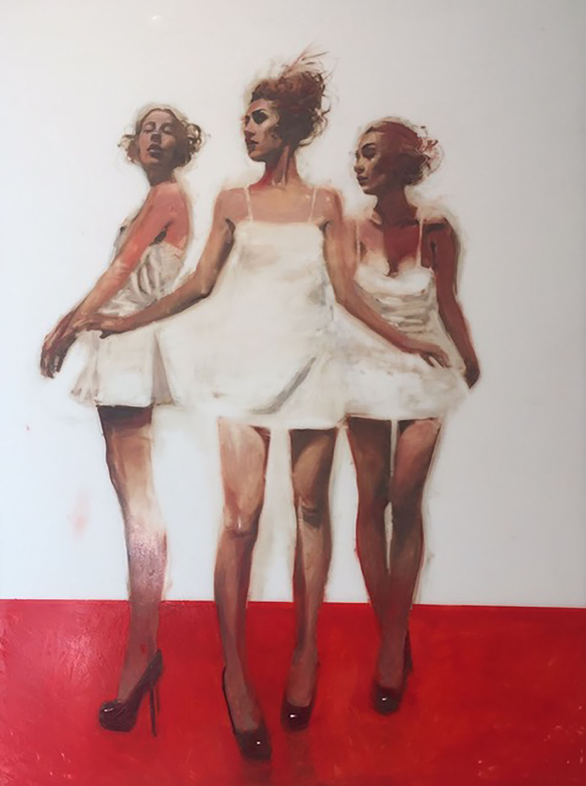 Michael Carson / Untitled, 50 x 39 inches / oil and resin on panel