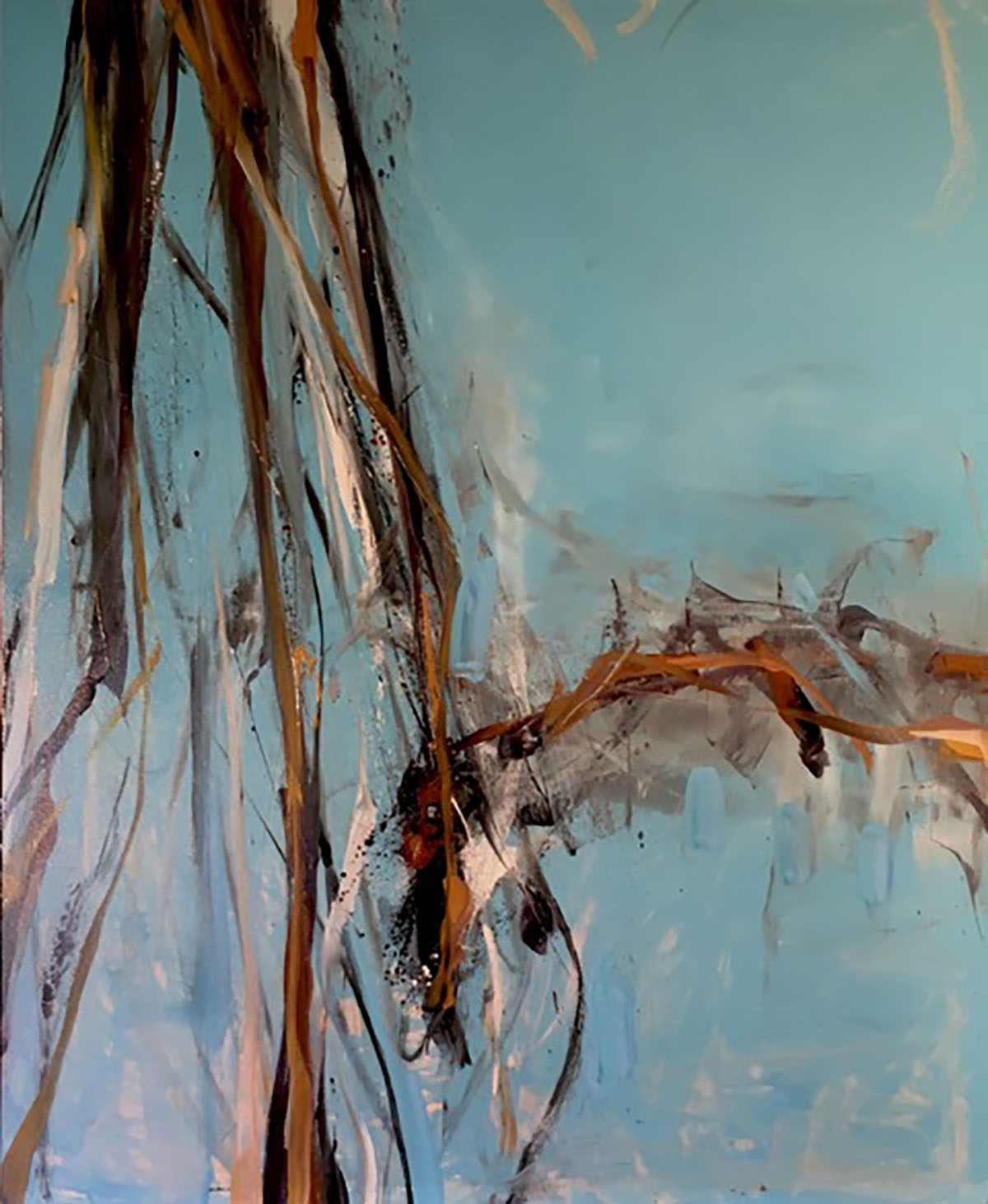 Tom Lieber / Blue Inversion, 88 x 72 inches / oil on canvas