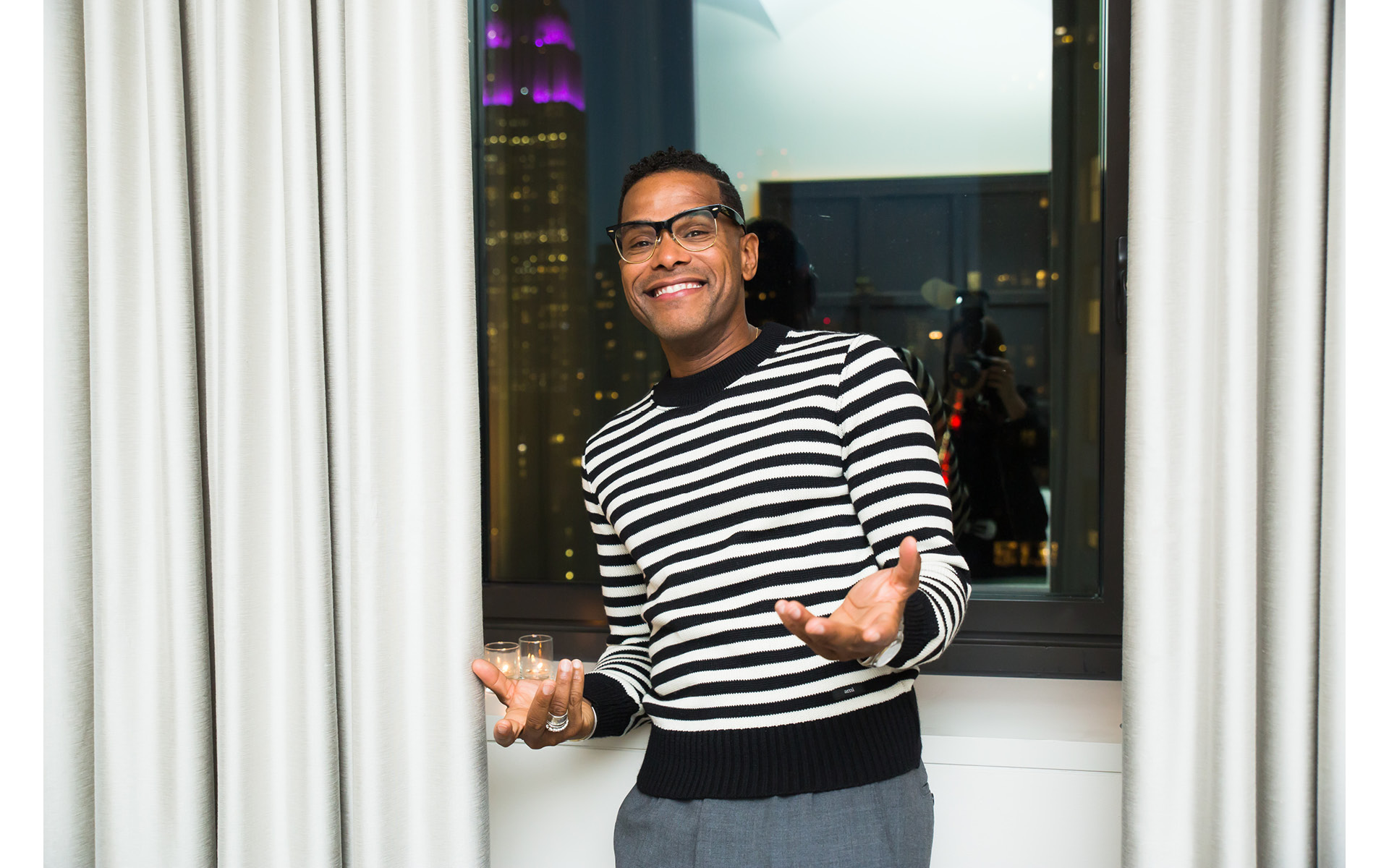 Maxwell, at Edition Hotel, celebrating Maxwell birthday and Spirit & Flesh magazine cover story by Mark Seliger