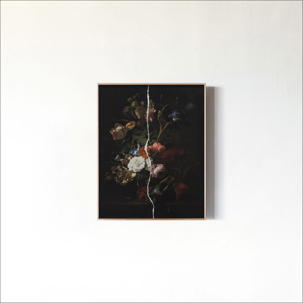 Synograph of _Ripped Flowers_ by Public Domain