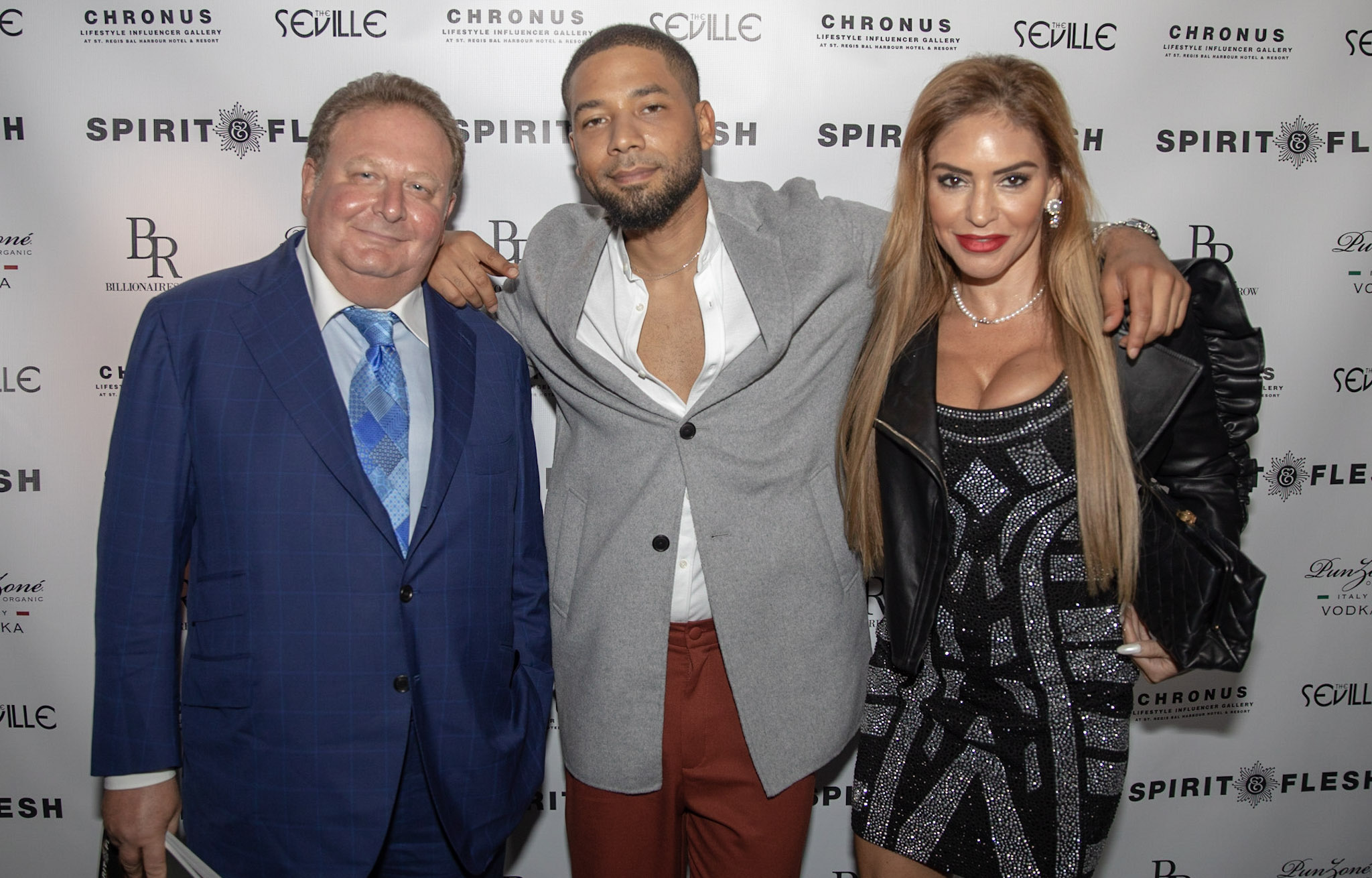 Spirit & Flesh Magazine cover event, Jussie Smollett with David & Rosa Veitsman by Kenneth de la Torre