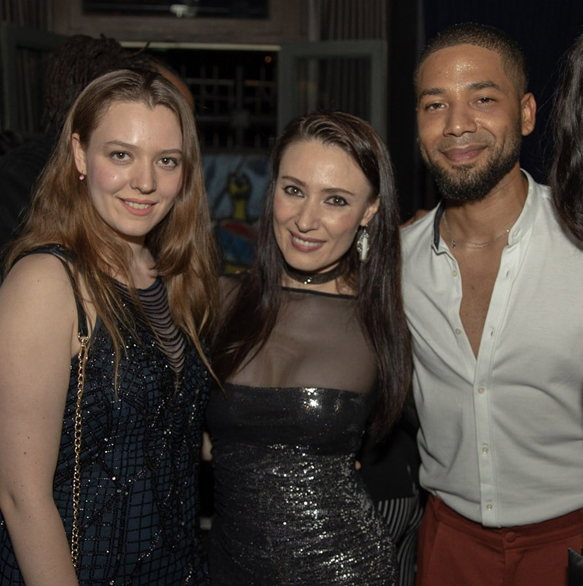 Spirit & Flesh Magazine Jussie Smollett cover event, Vasilisa Deyneko & Yelena Deyneko by Kenneth de la Torre