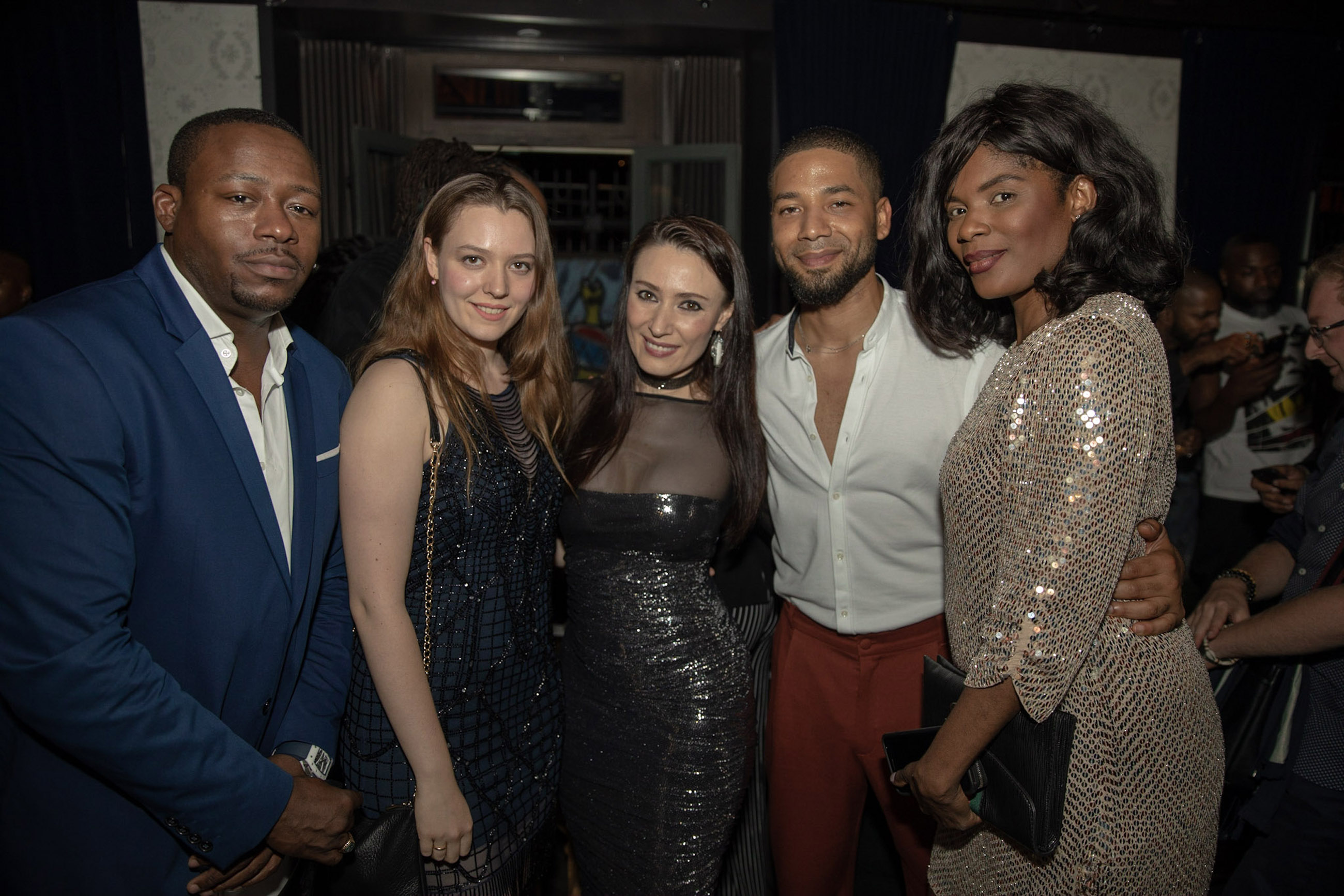 Spirit & Flesh Magazine cover event, William Benson, Vasilisa Deyneko, Yelena Deyneko, Jussie Smollett & Danni Benson by Kenneth de la Torre