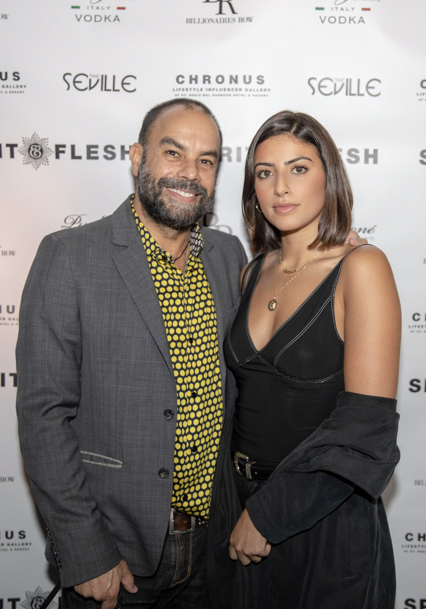 Spirit & Flesh Magazine Jussie Smollett cover event, Antonio Navas & Camilla Navas by Kenneth de la Torre
