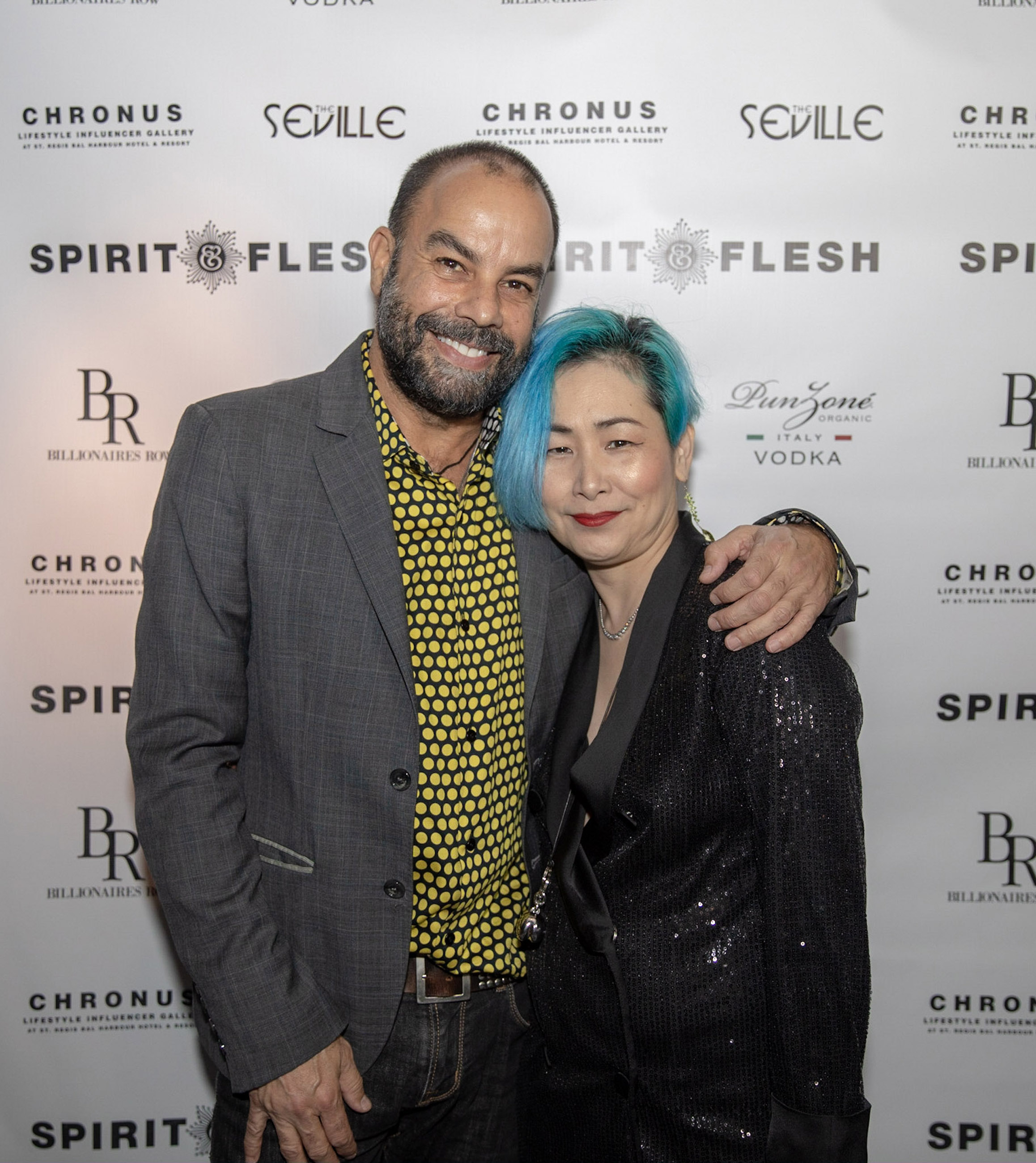 Spirit & Flesh Magazine Jussie Smollett cover event, Antonio Navas & Yachi Gault by Kenneth de la Torre