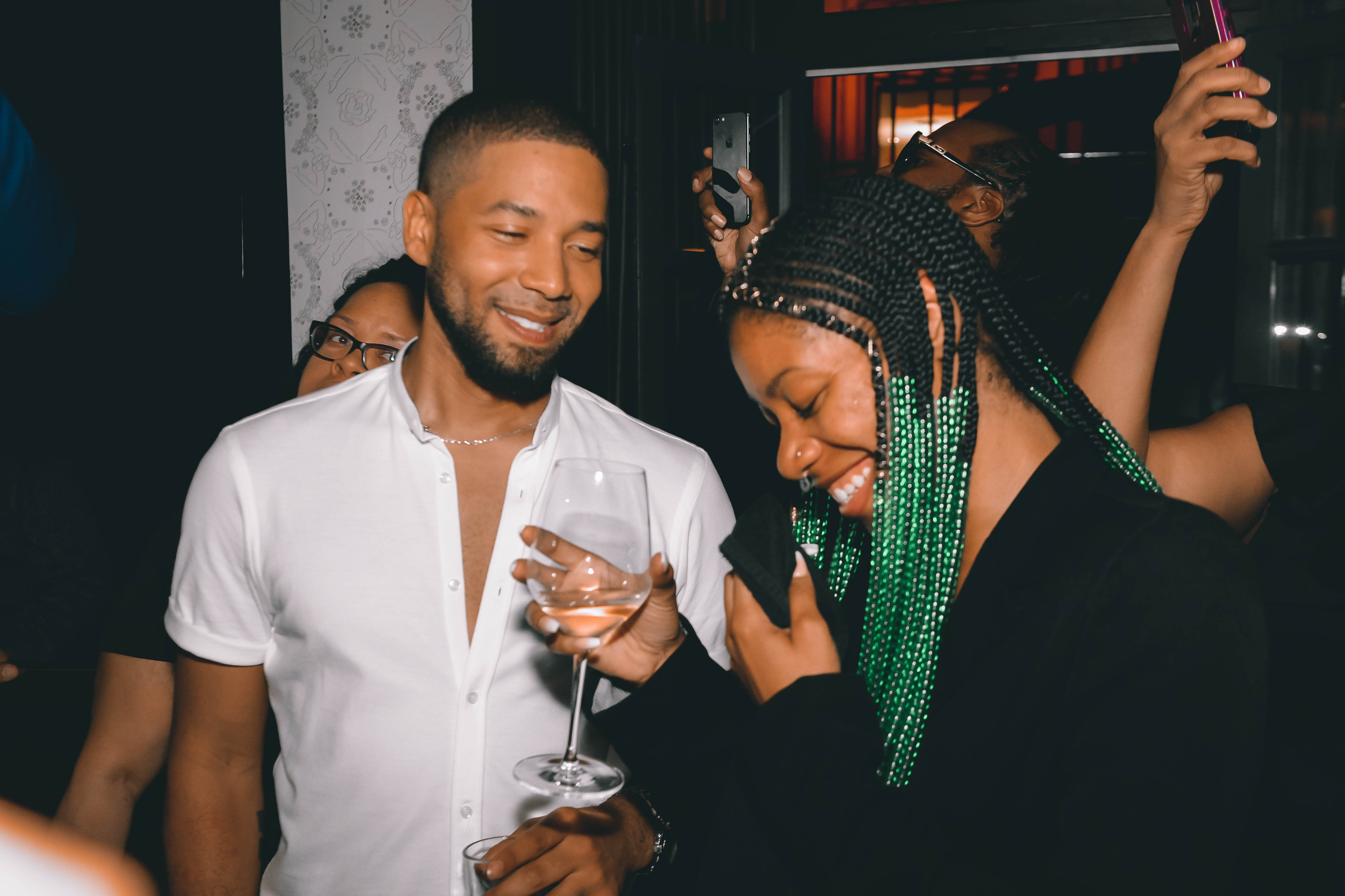 Spirit & Flesh Magazine cover event, Jussie Smollett & April Qualls by Chuck Marcus