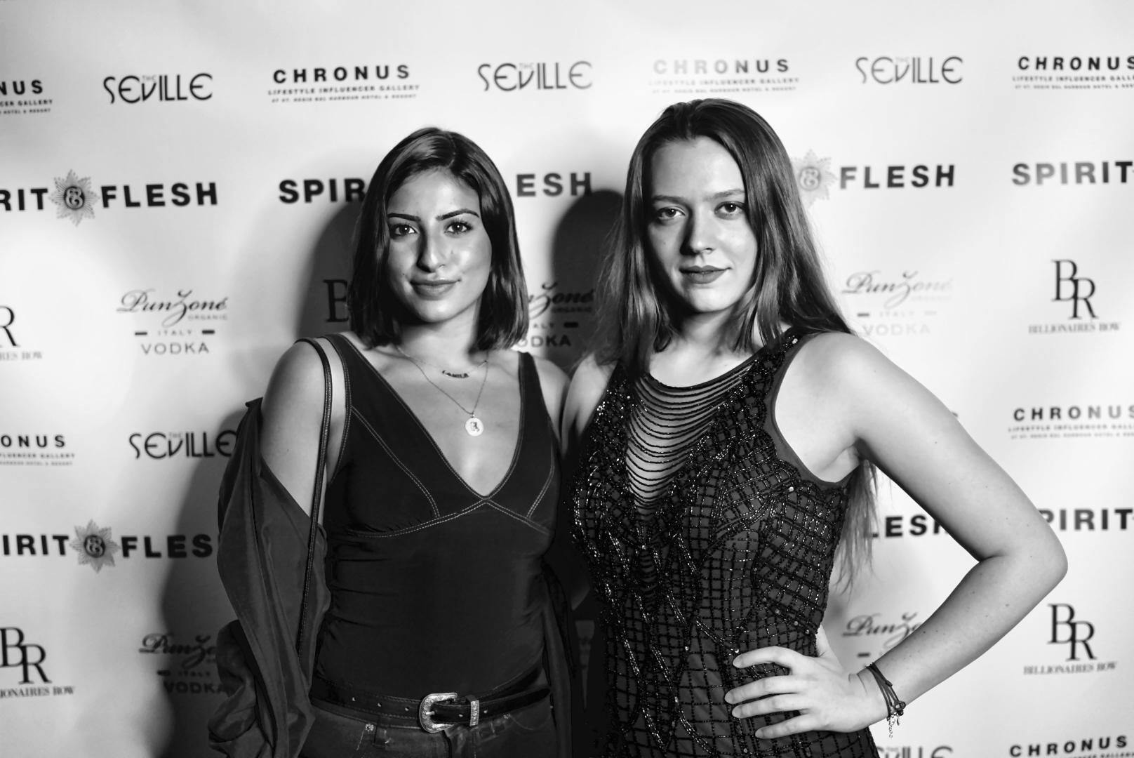 Spirit & Flesh Magazine Jussie Smollett cover event, Camilla Navas & Vasilisa Deyneko by Antonio Navas