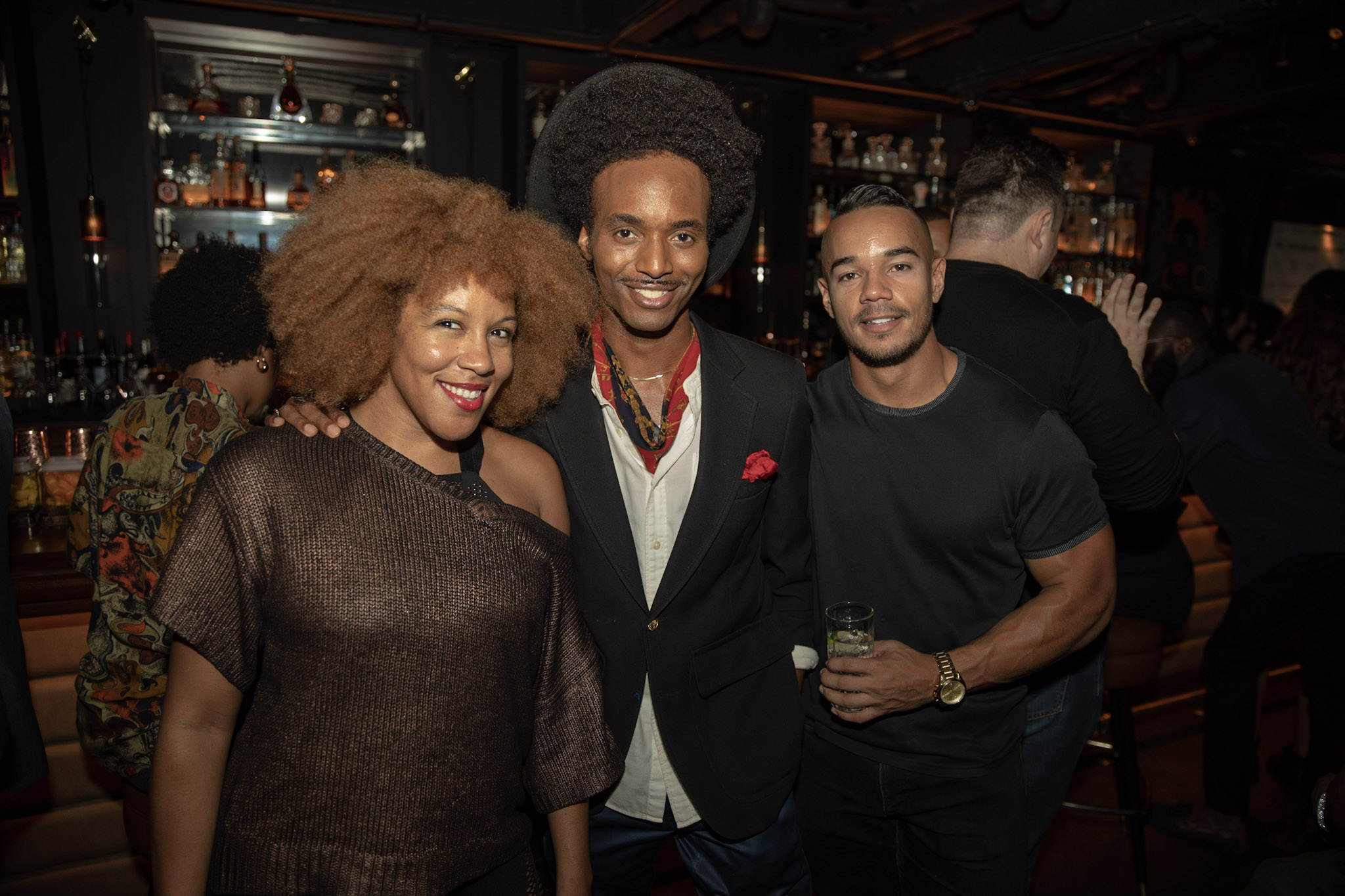 Spirit & Flesh Magazine Jussie Smollett cover event, Tony Triumph by Kenneth de la Torre