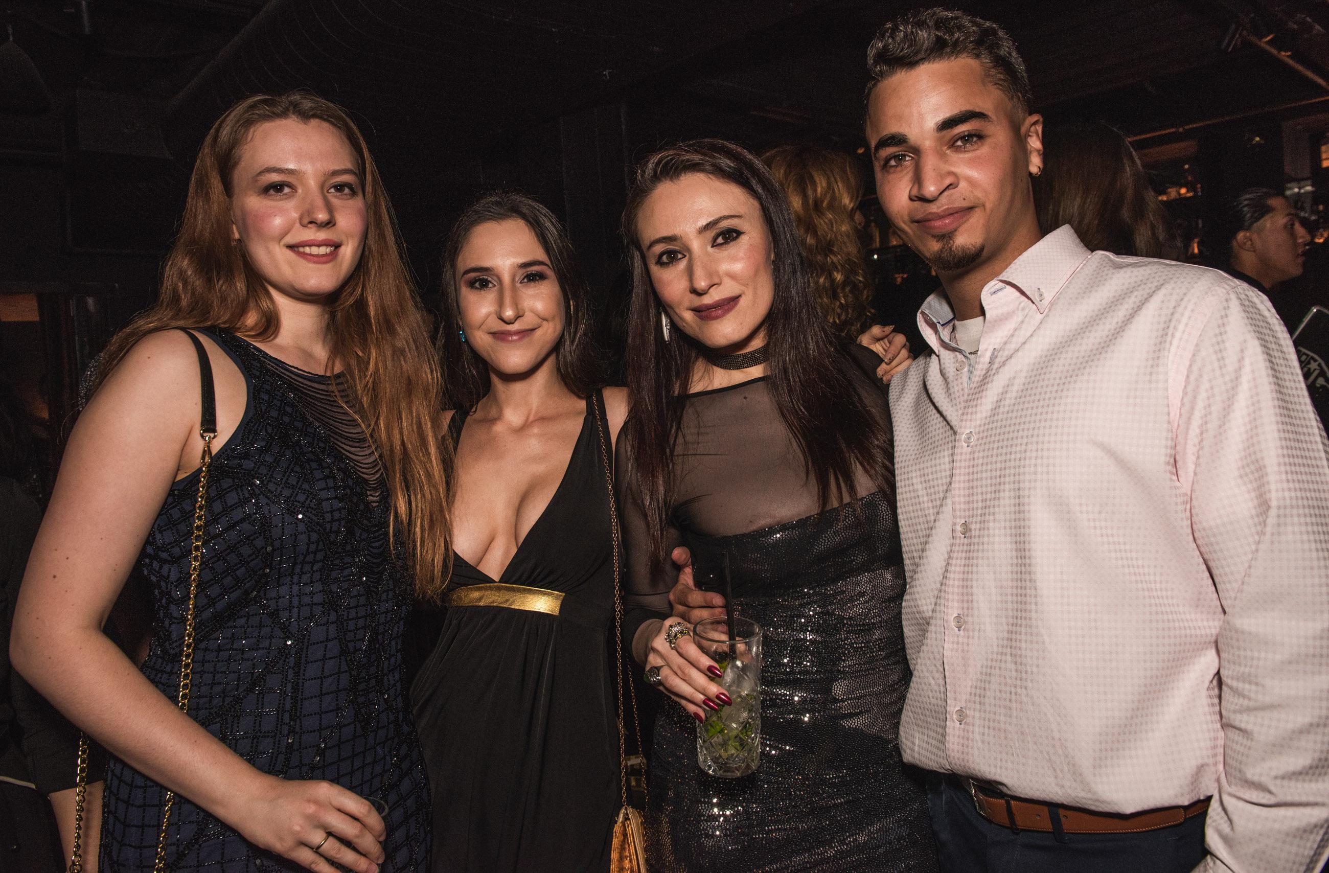 Spirit & Flesh Magazine Jussie Smollett cover event, Vasilisa Deyneko, Katherine Sokolova, Yelena Deyneko & Gianni Perez by Leo Urossov