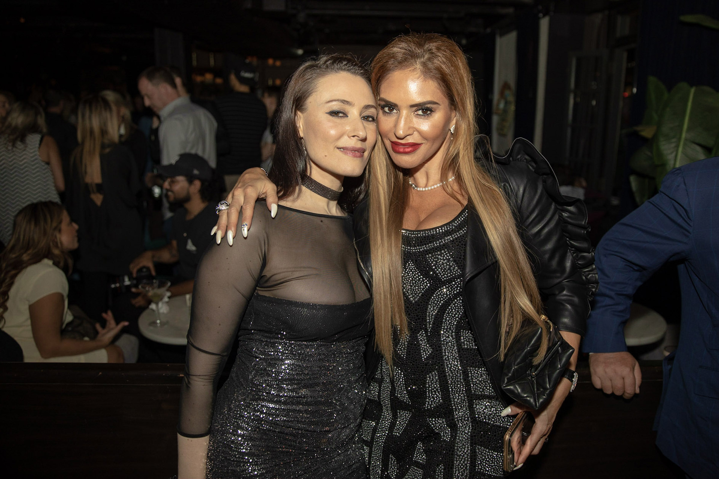 Spirit & Flesh Magazine Jussie Smollett cover event, Yelena Deyneko & Rosa Veitsman by Kenneth de la Torre