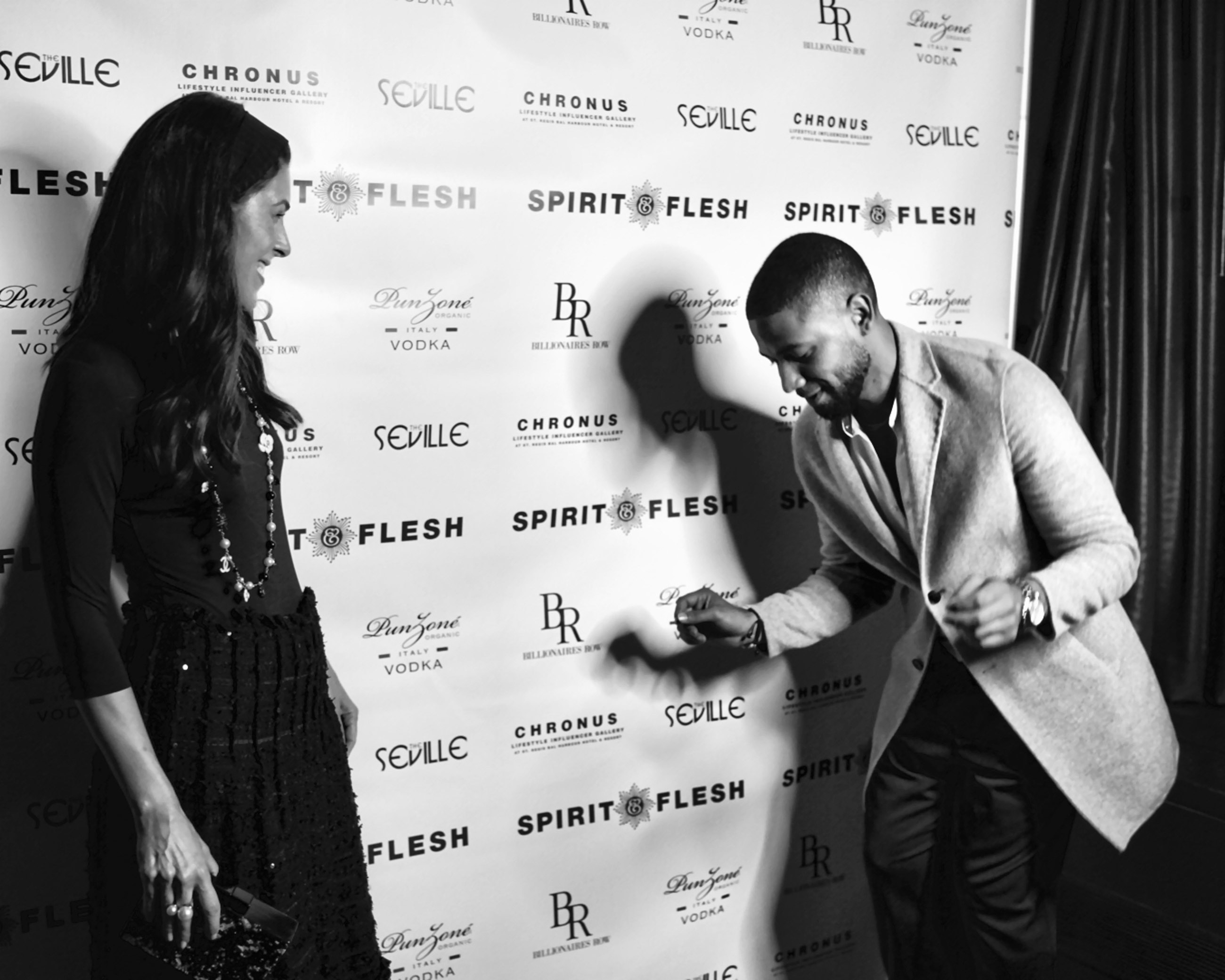 Spirit & Flesh Magazine cover event, Cheryl Scharf & Jussie Smollett by Antonio Navas