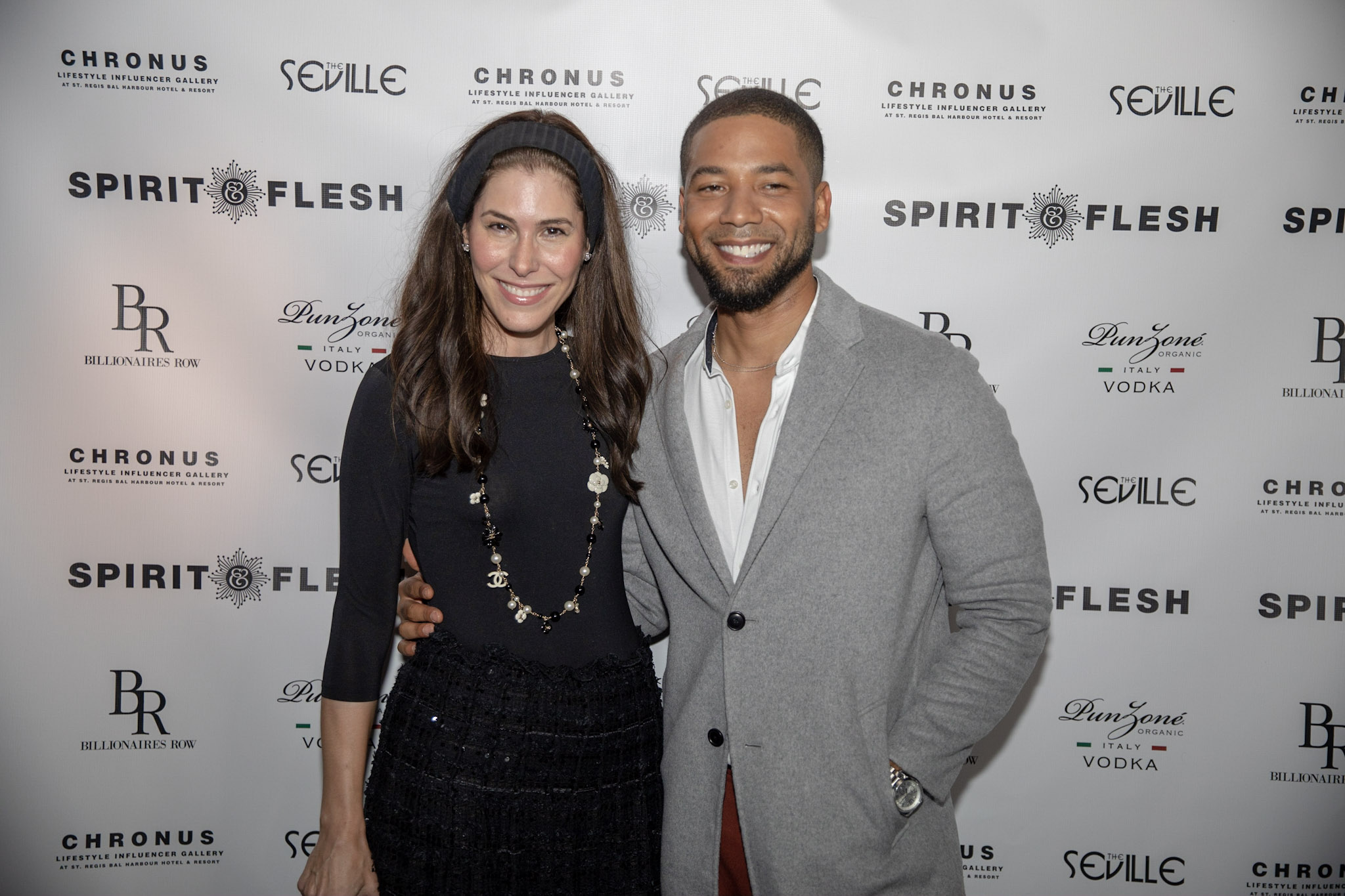 Spirit & Flesh Magazine cover event Jussie Smollett & Cheryl Scharf by Kenneth de la Torre