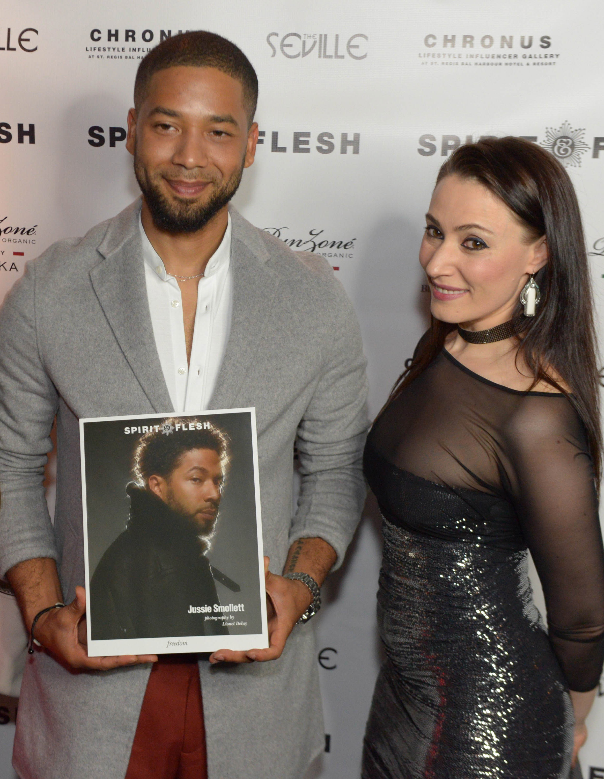 Spirit & Flesh Magazine cover event, Jussie Smollett & Yelena Deyneko by Chuck Marcus