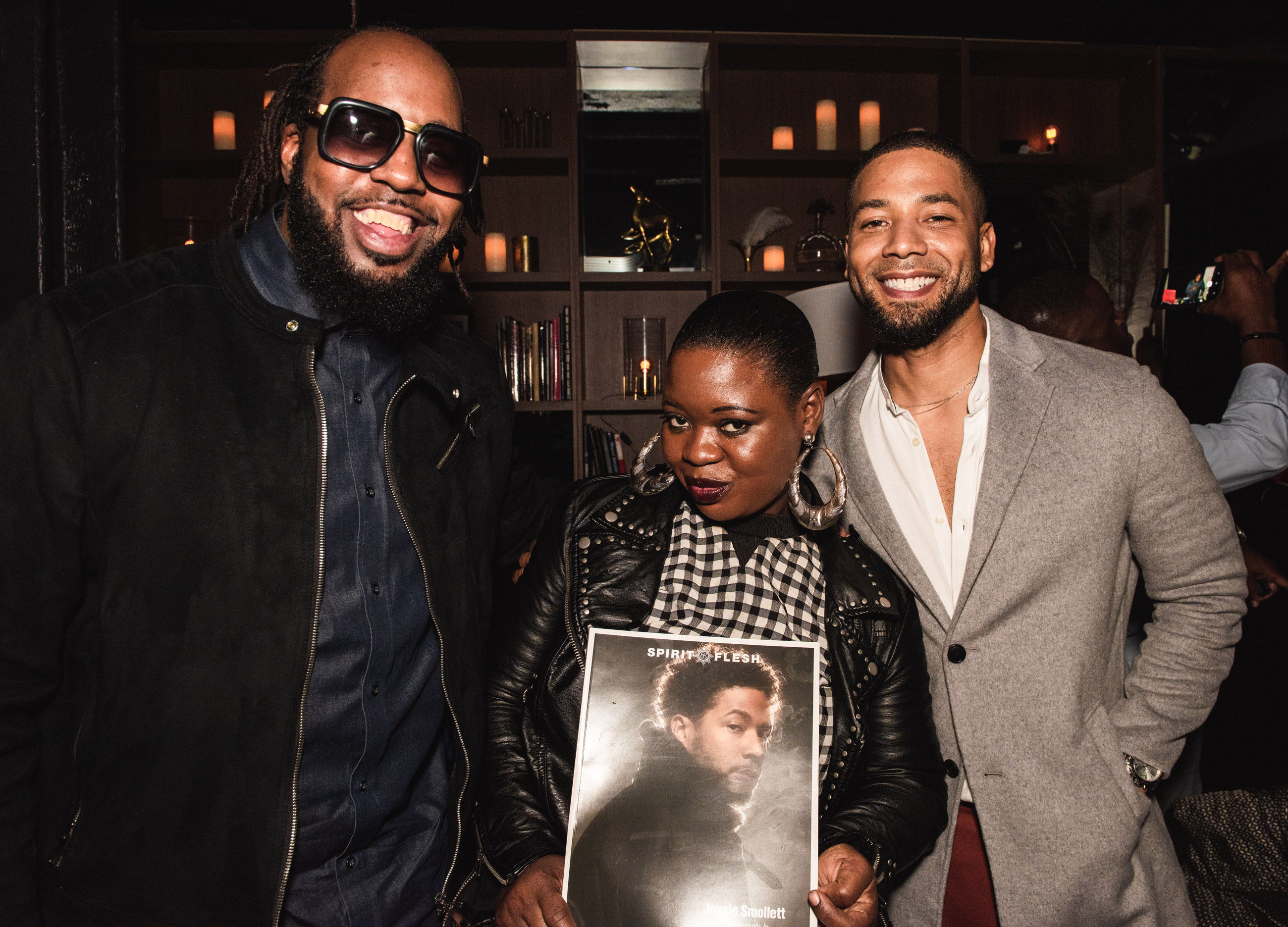 Spirit & Flesh Magazine cover event, MusicMan-Ty & Jussie Smollett by Chuck Marcus