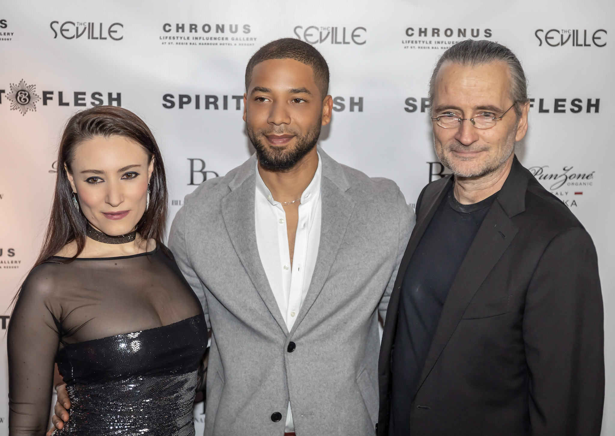 Spirit & Flesh Magazine cover event, Yelena Deyneko, Jussie Smollett and Chris Austopchuk by Kenneth de la Torre