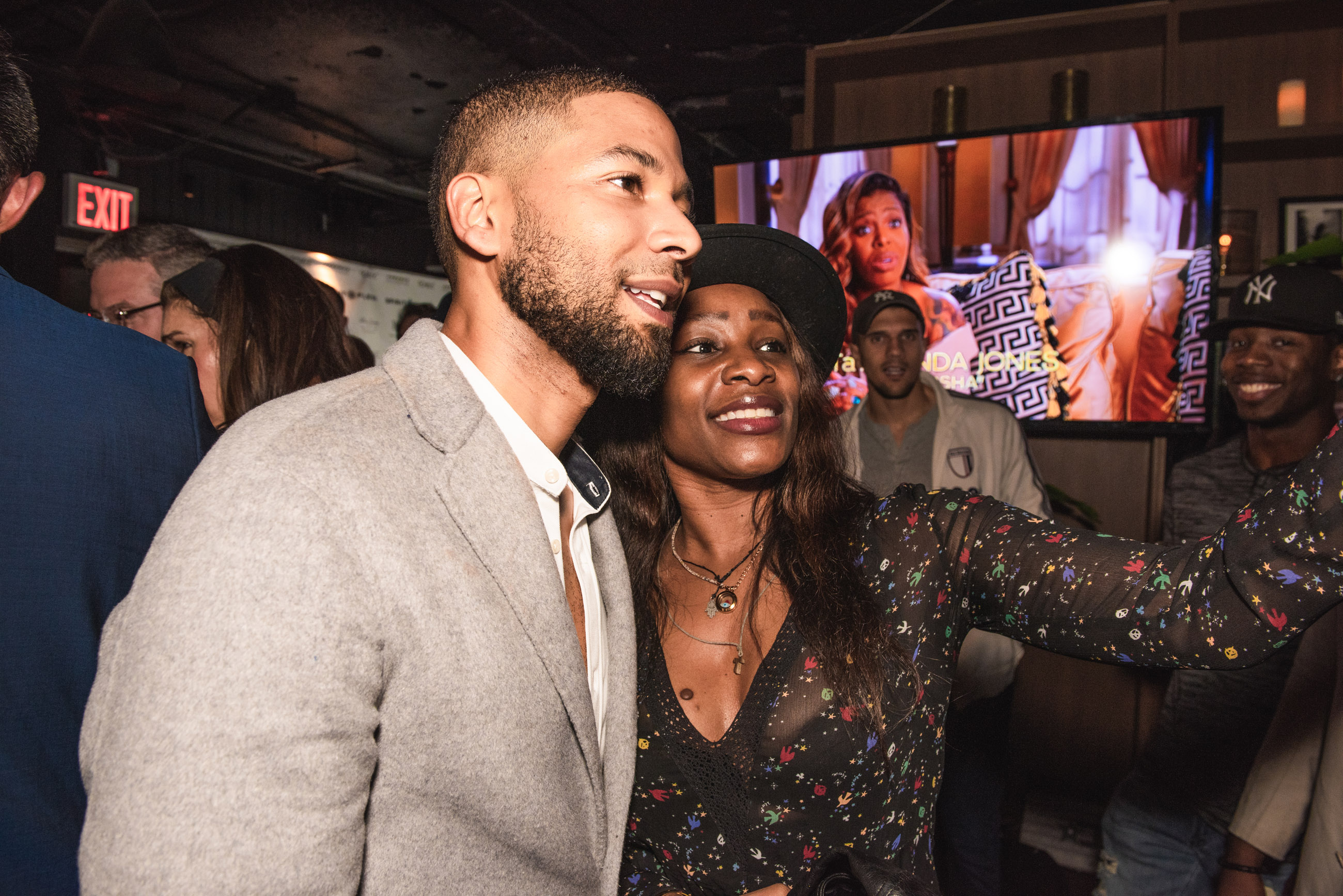 Spirit & Flesh Magazine cover event, Jussie Smollett & Yaya Bongo by Leo Urossov