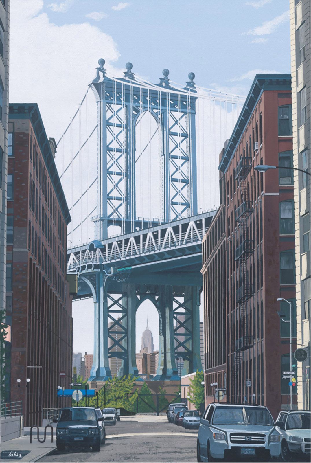"The Manhattan Bridge - acrylic on canvas 36"" x 24"""