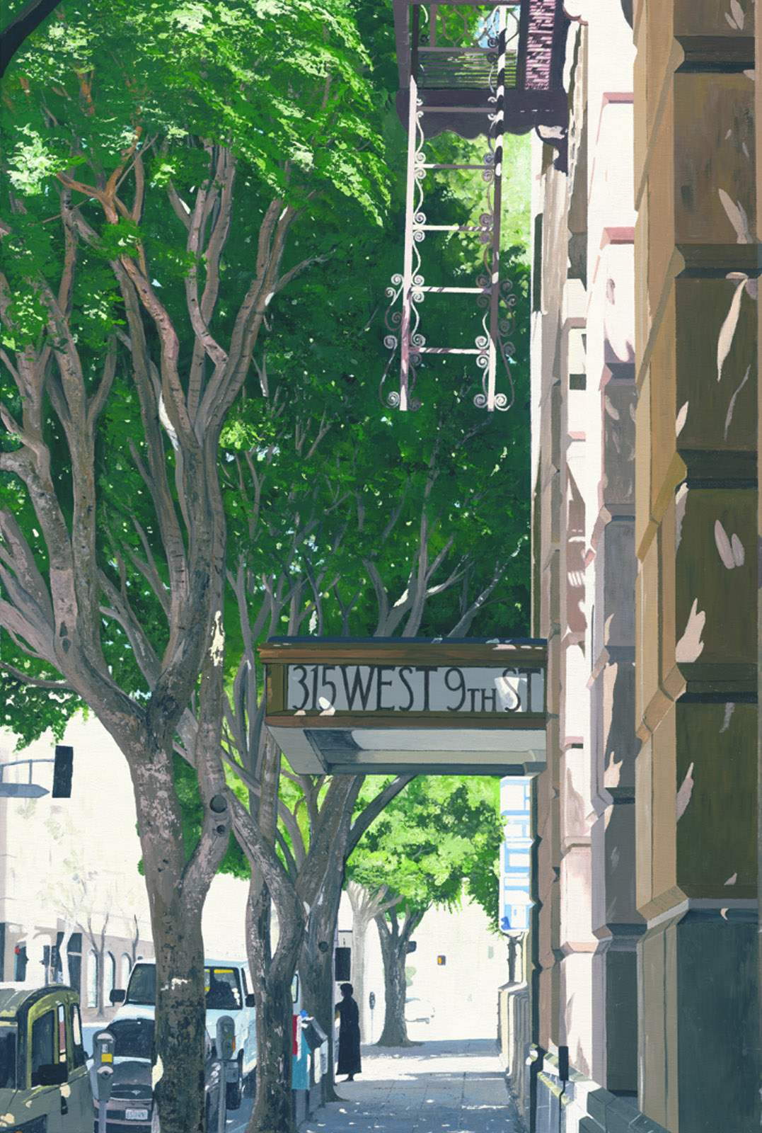 "315 W. 9th street - acrylic on canvas 36"" x 24"""