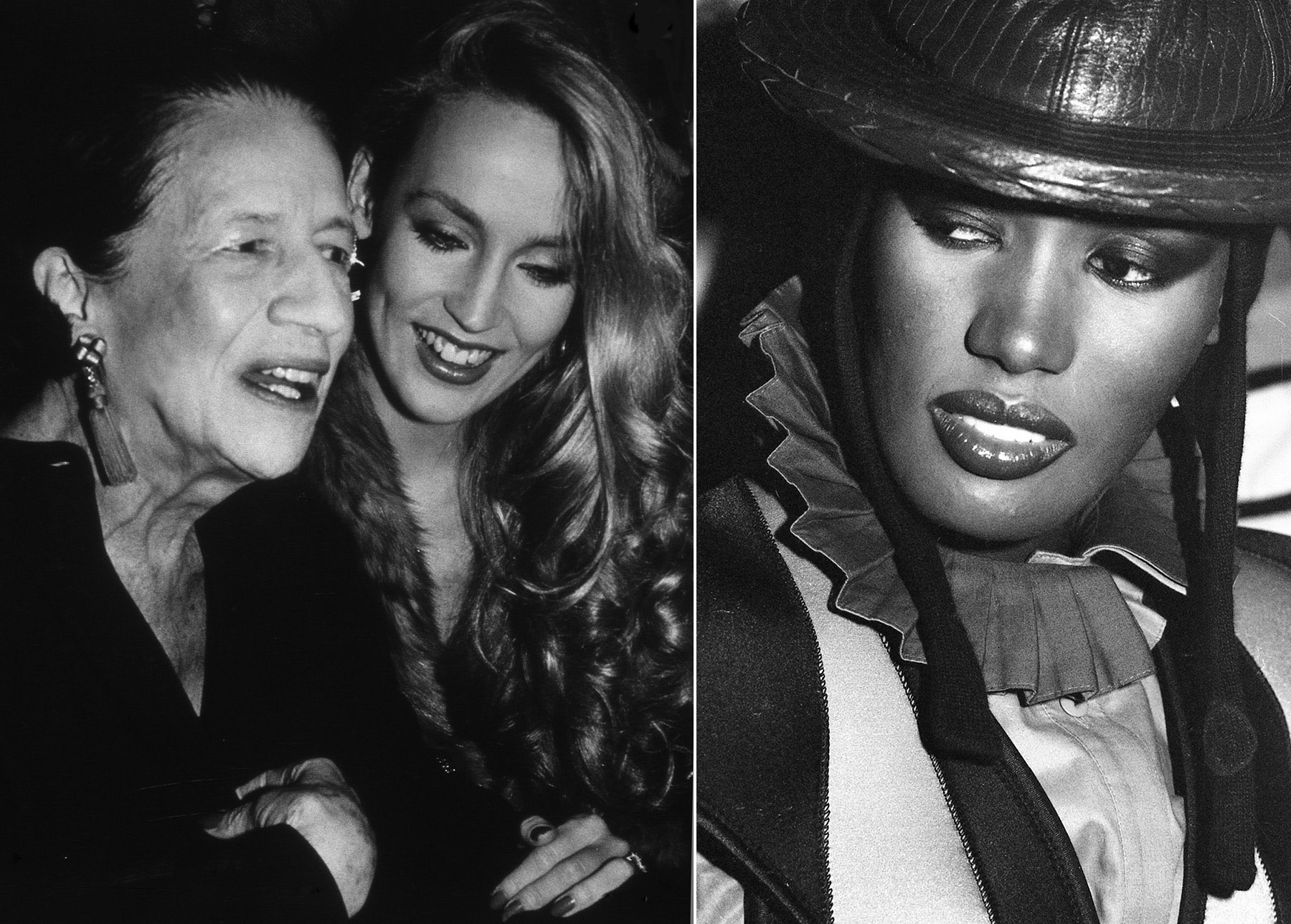 Spirit-&-Flesh-Magazine_LA-VIE-EN-ROSE_Diana-Vreeland-&-Jerry-Hall_Grace-Jonesby_Rose-Hartman_9